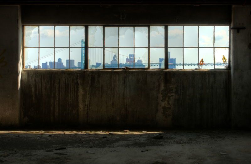 Detroit Window Skyline