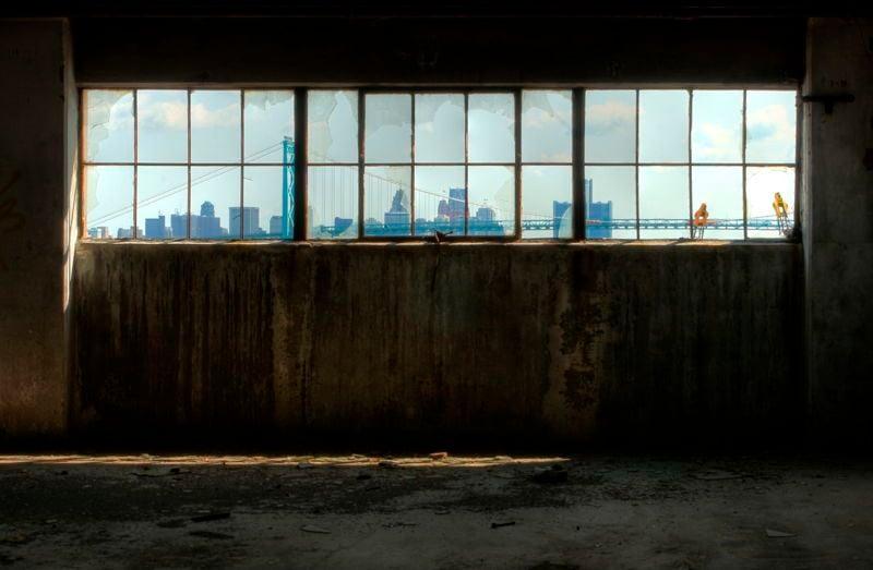 Detroit Window Skyline