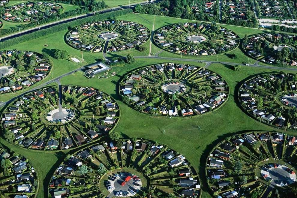Copenhagen Suburbs Aerial Photography
