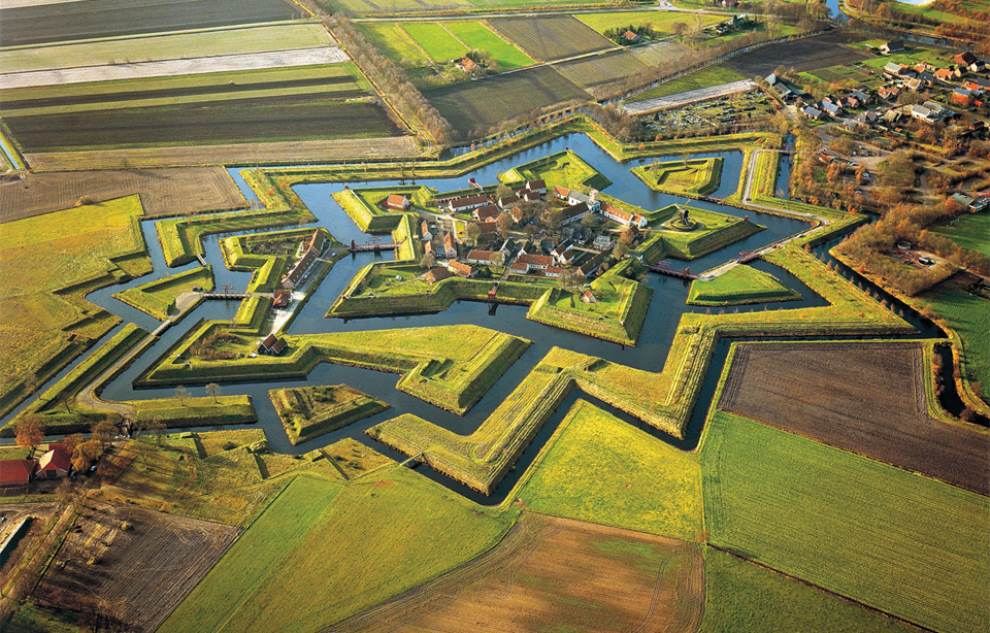 Fort Bourtange Aerial Photography