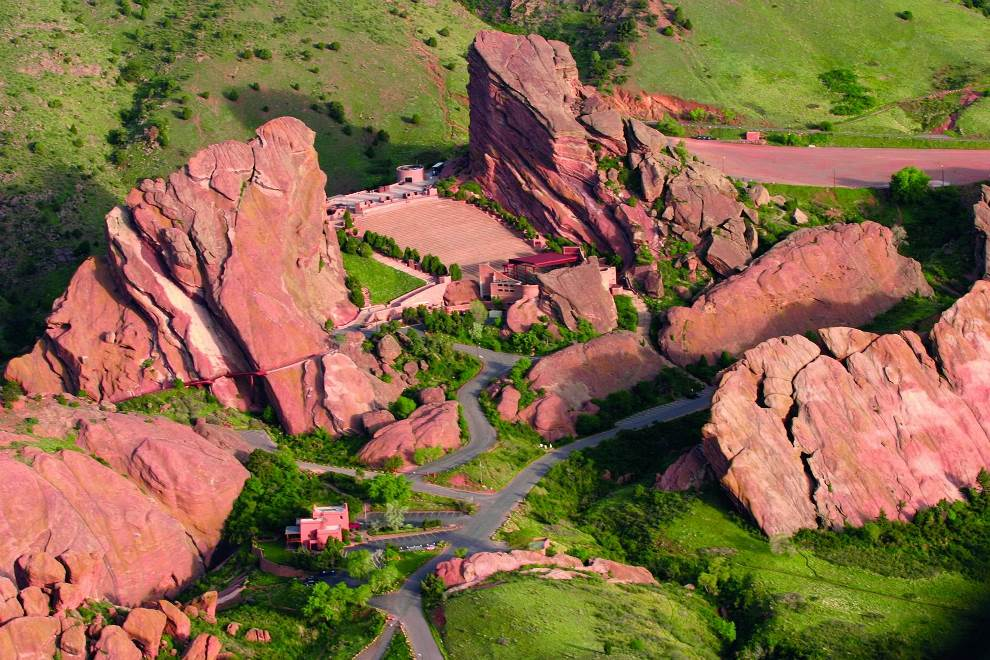 Aerial Photography Red Rocks Amphitheater