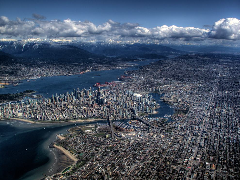 Vancouver Canada Aerial Picture