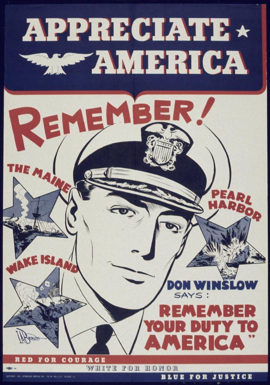 Don Winslow World War 2 Poster