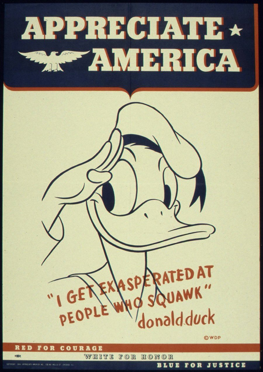 Donald Duck Propaganda Poster