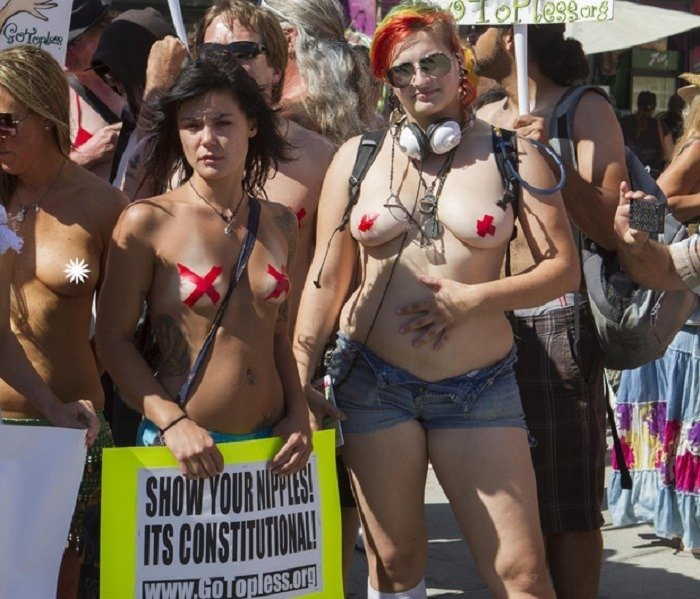 Bizarre Protests Go Topless