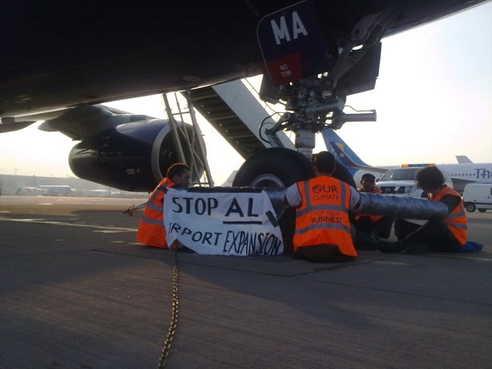Bizarre Protests Plane Stupid