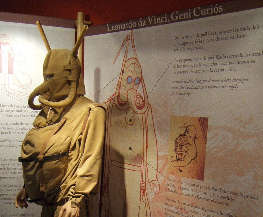 Leonardo Da Vinci's Inventions Diving Suit