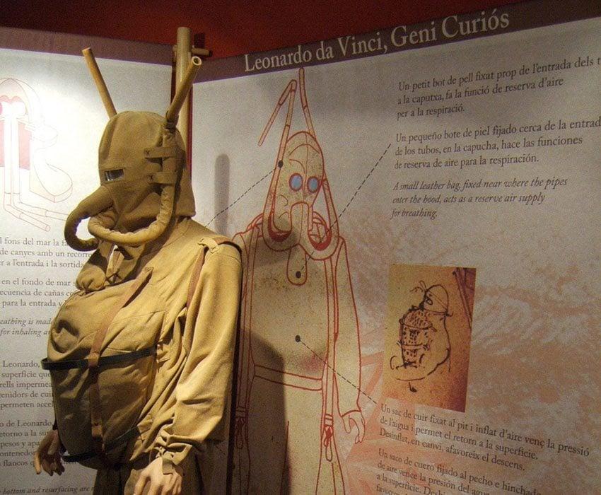 Leonardo Da Vinci's Inventions Diving Suit