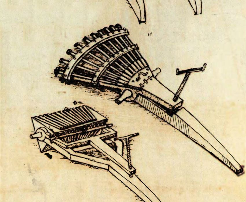 Leonardo Da Vinci Invention Of A Machine Gun