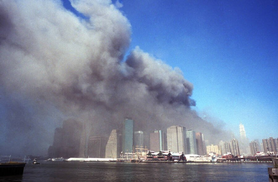 Distant View Of World Trade Center Smoke