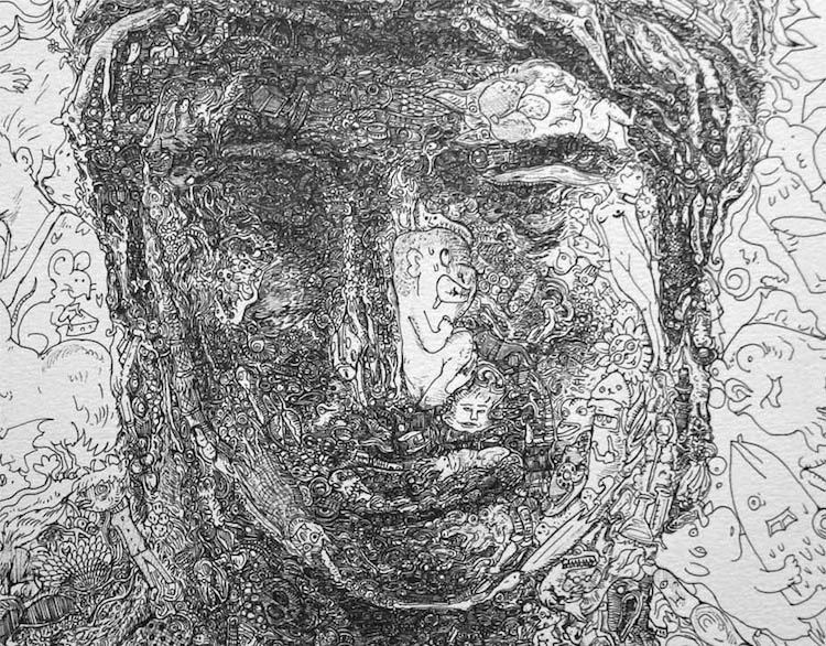 Mars Doodle Face