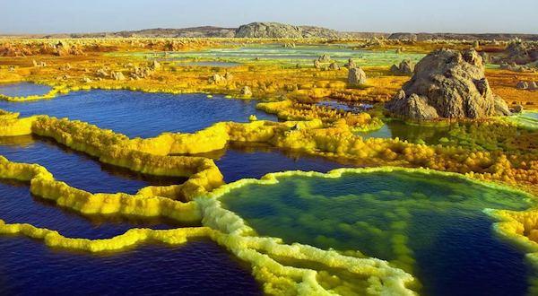 Ethiopia Volcanic Landscape Blue