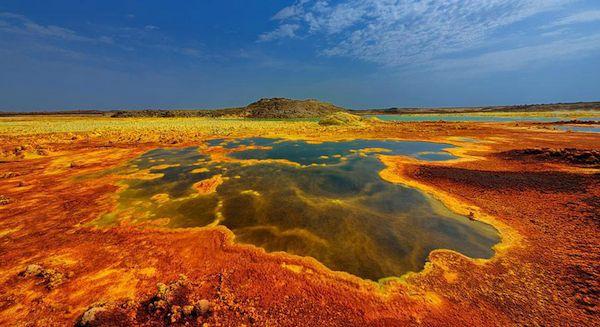 Ethiopia Volcanic Landscape Orange