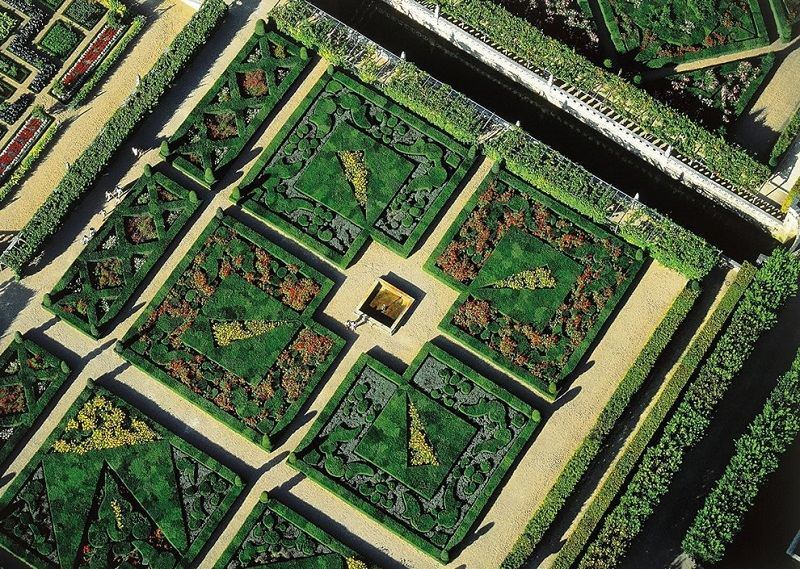 Chateau De Villandry From Above