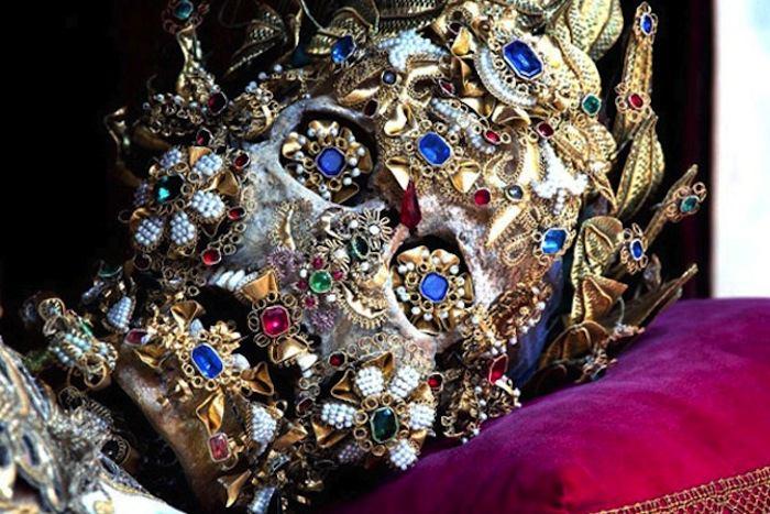 Saint Bejeweled Skull