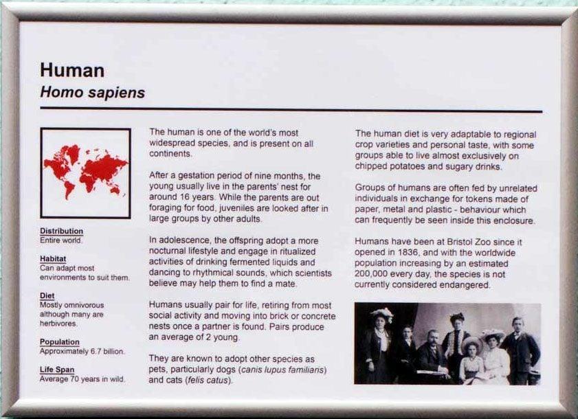 Human Information Sign