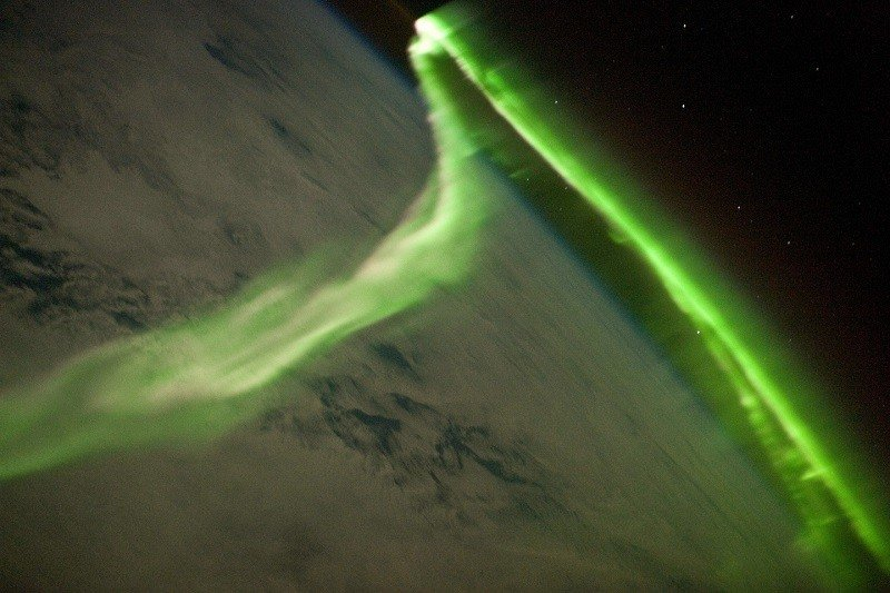 Northern Lights From Space