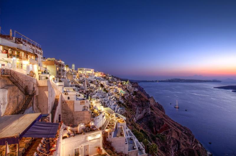 HDR Santorini Photograph