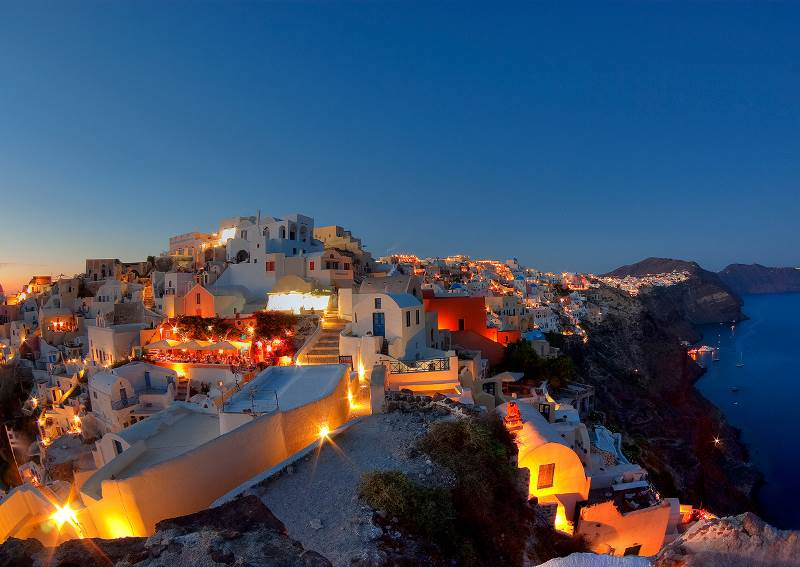 Beautiful Santorini Night