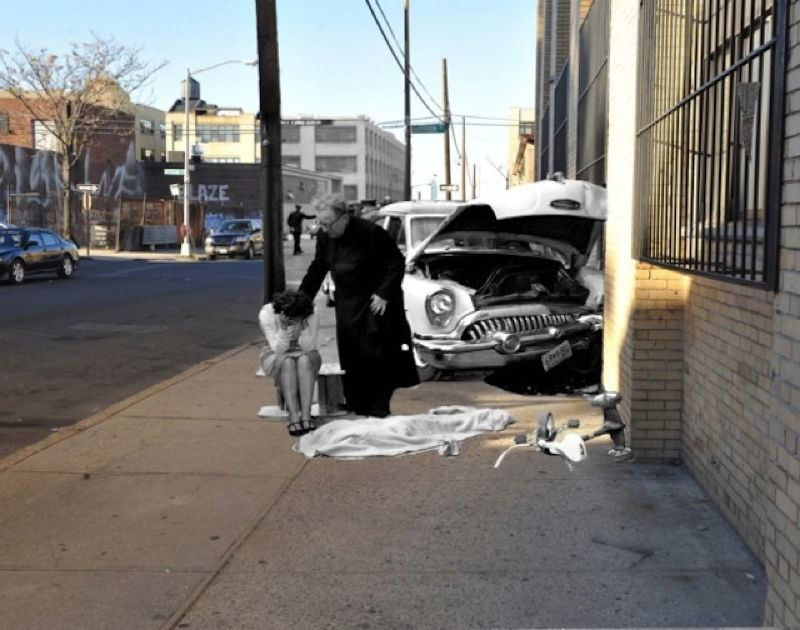 Vintage Crime Scenes Accident