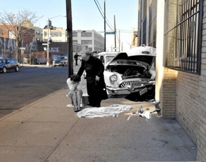 Vintage Crime Scenes Accident