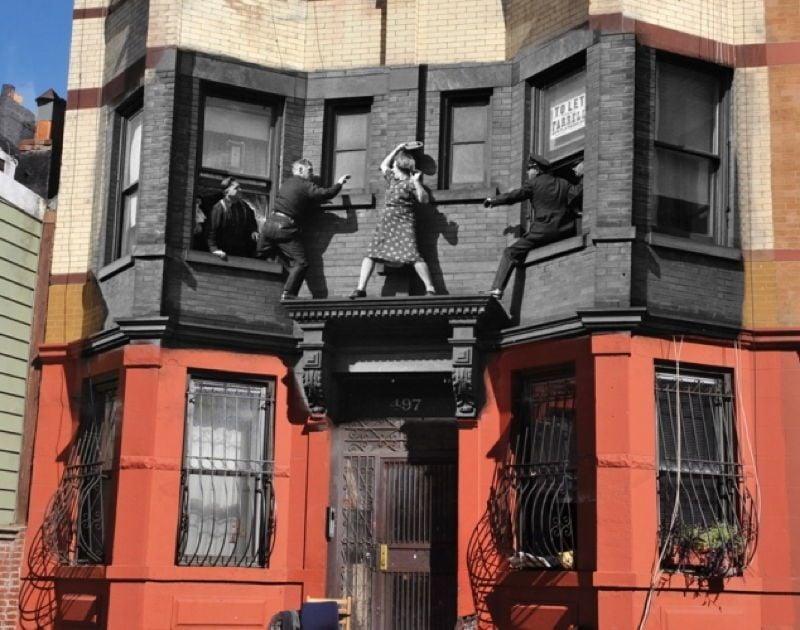 Vintage Crime Scenes Balcony