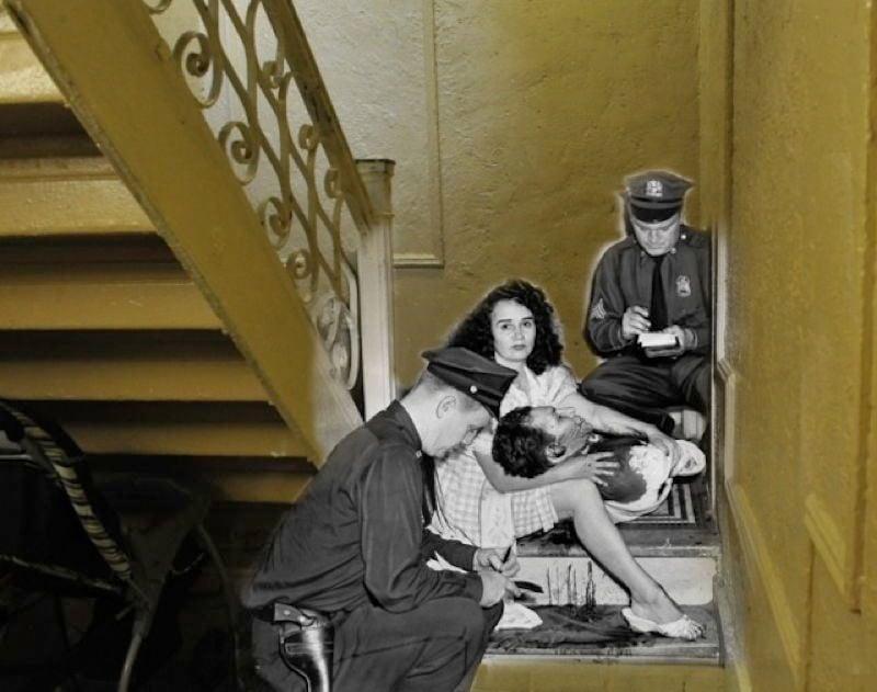 Vintage Crime Stairs