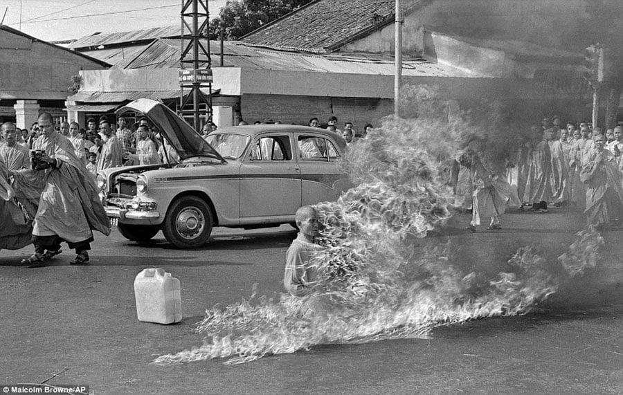 Vietnam War AP Photographers Burning Monk