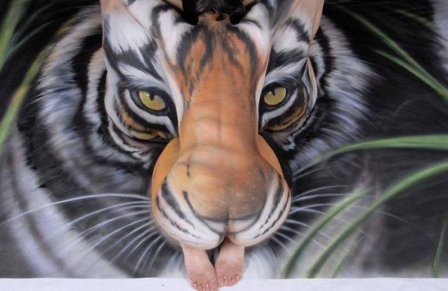 Tiger Body Art