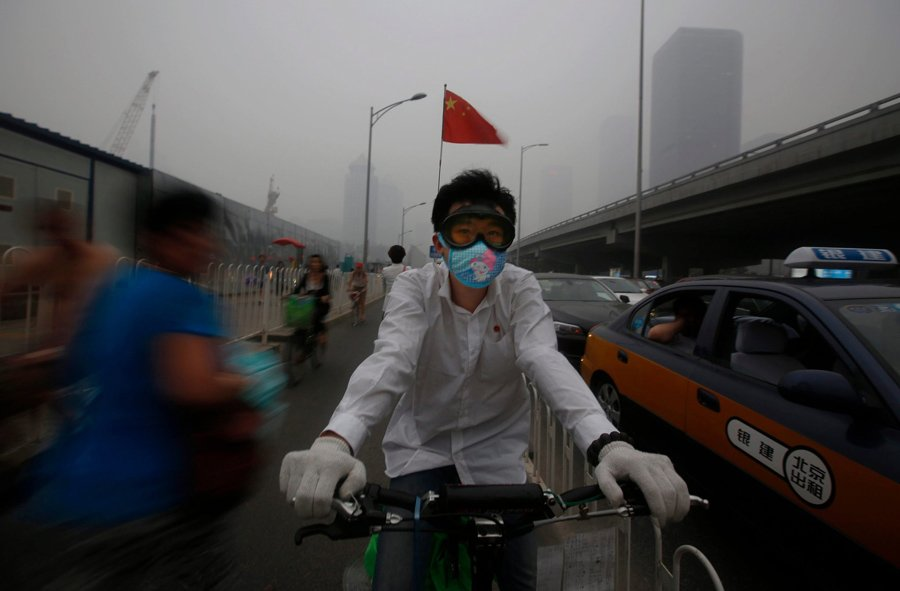 Chinese Pollution Bike