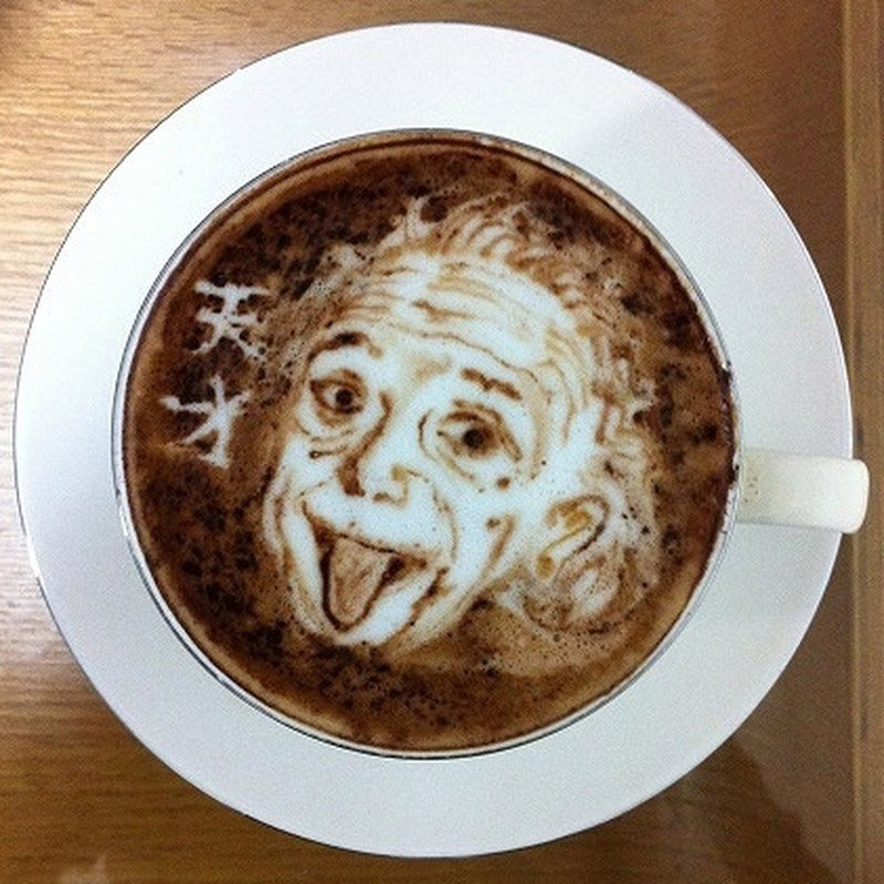 Latte Art Einstein