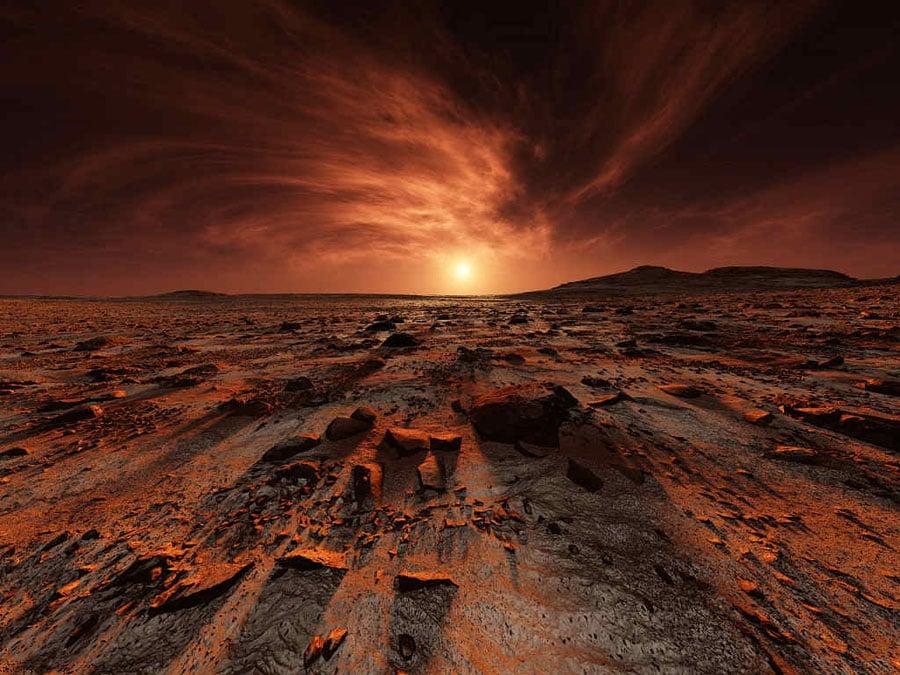 Mars Landscapes Shadows