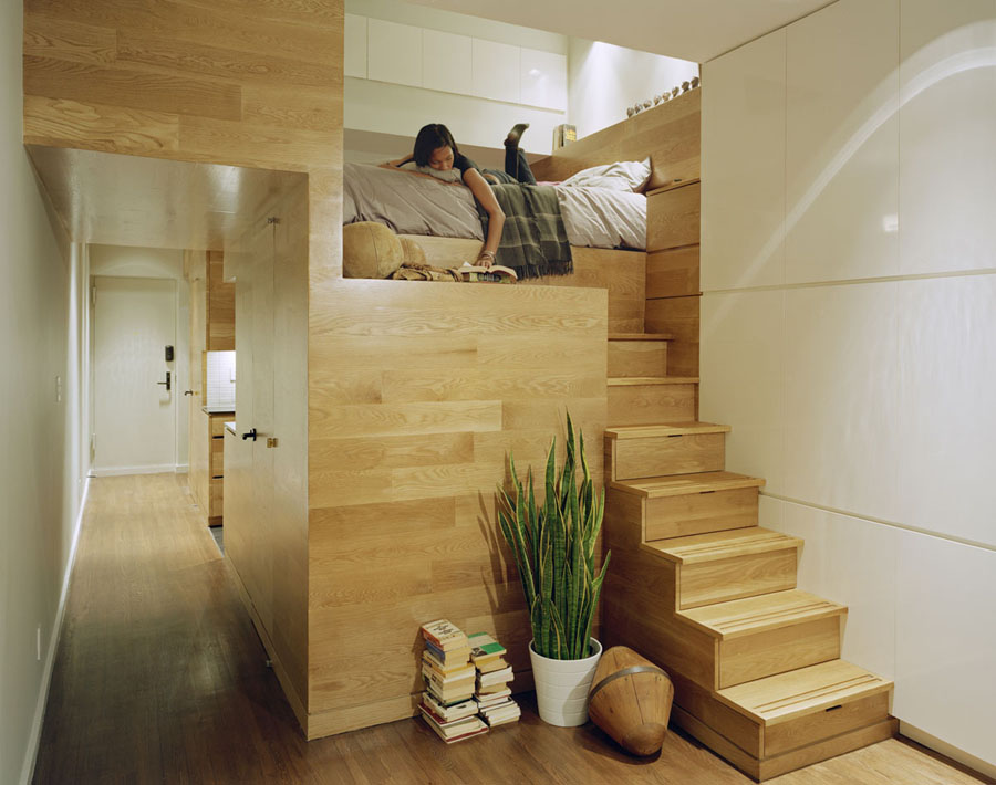 Micro Apartments Stairs