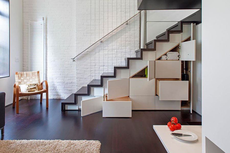 Micro Apartments Stair Drawers