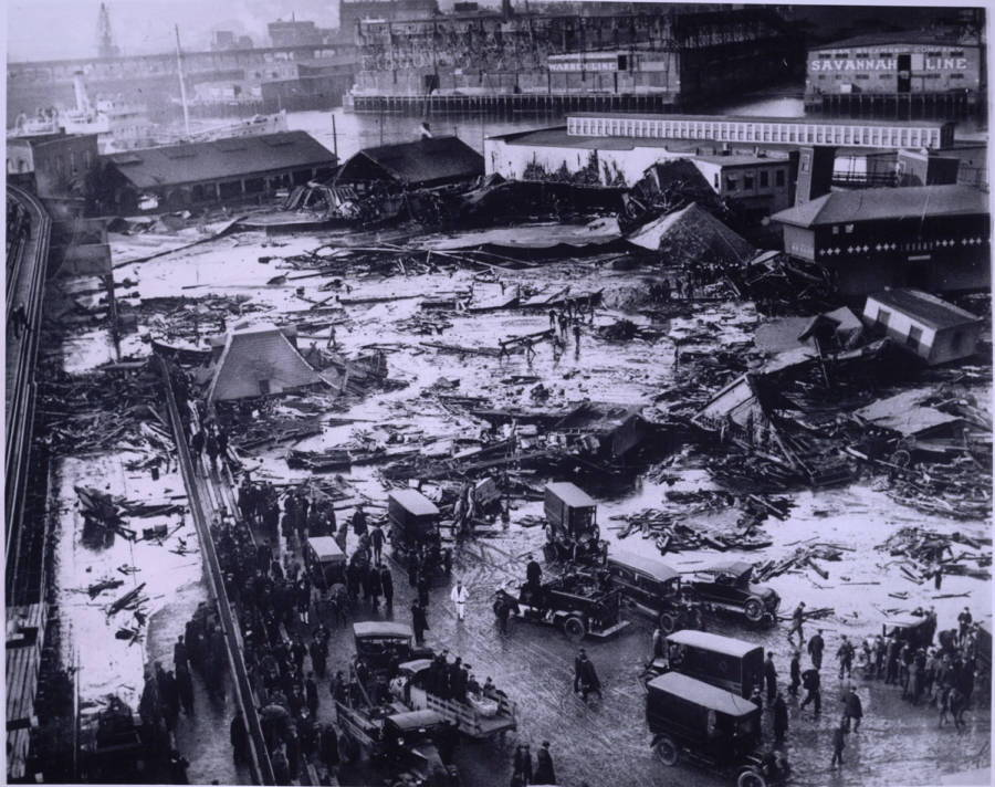 Boston Molasses Disaster wreckage