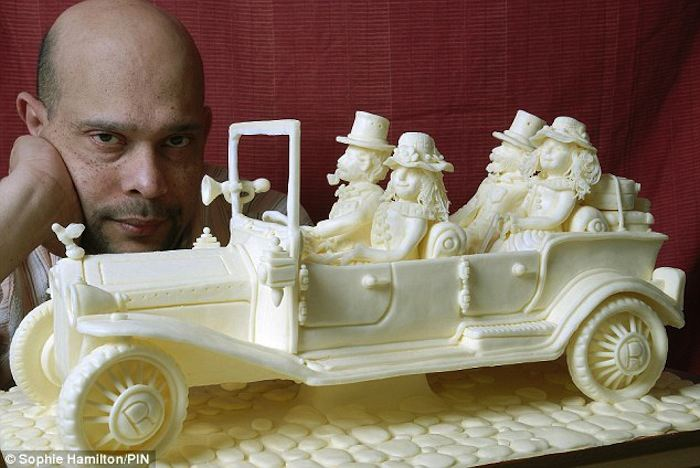 Butter Art Car