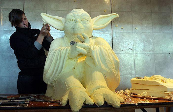 Butter Art Yoda
