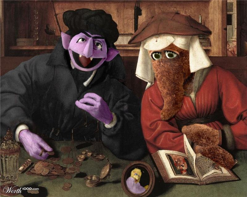 Classic Paintings With Sesame Street Count