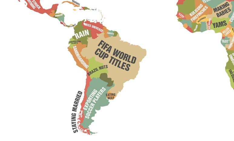 Countries Known For South America