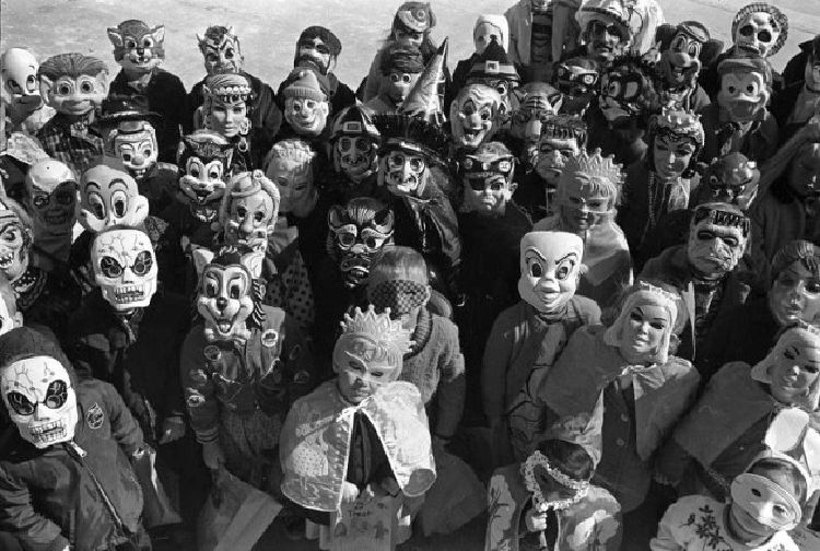 children in creepy costumes - Halloween Costumes 1900