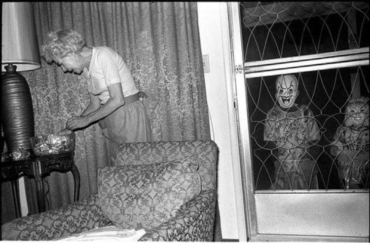 Creepy Halloween Costumes Door