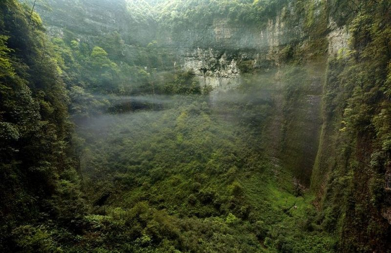 River Inside Cave
