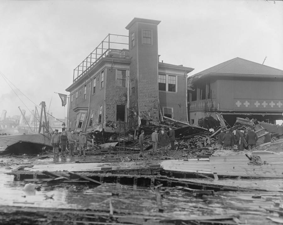 Firehouse during Boston Molasses Flood