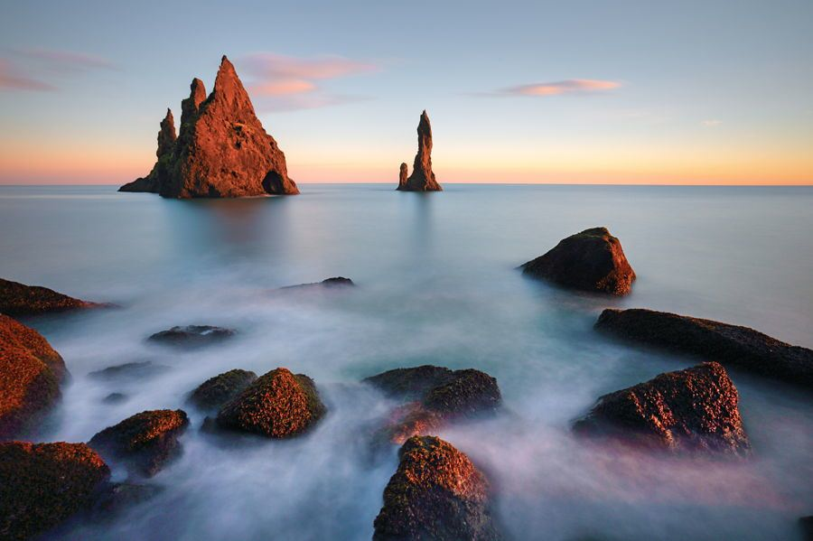 Sunset Rocks Iceland