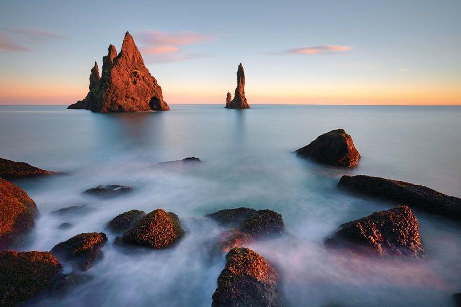 Sunset Rocks Iceland