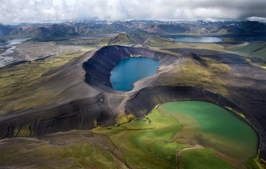 Volcano Lake In Iceland