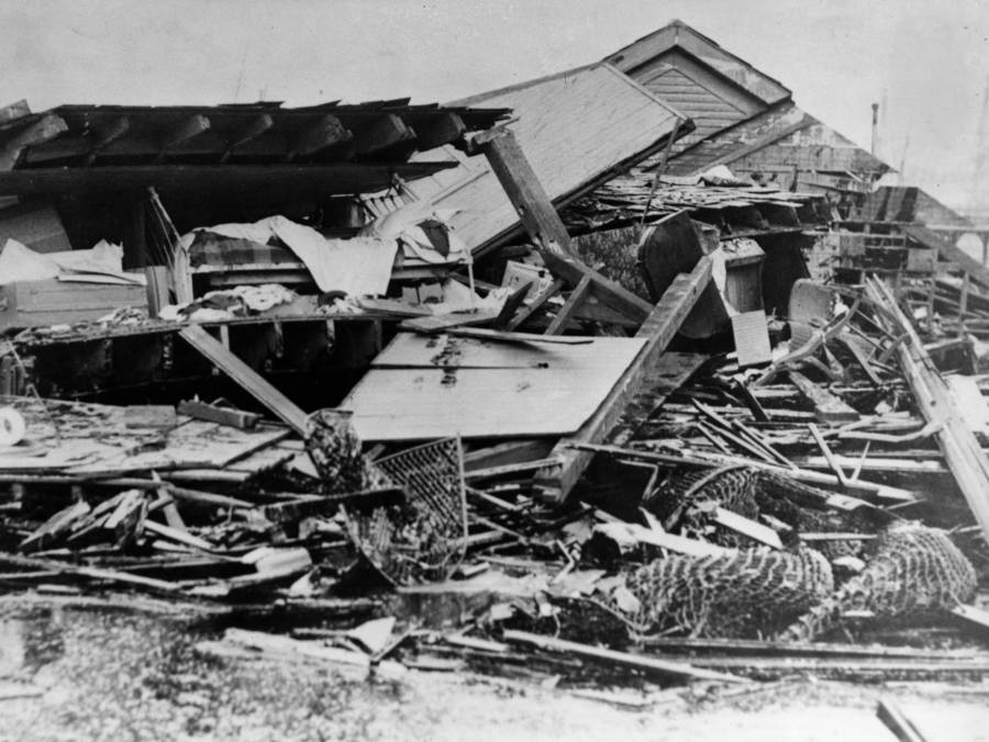 Destroyed buildings from Boston Molasses Disaster