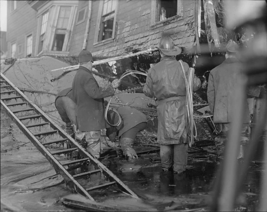 Rescue effort during Boston Molasses Flood