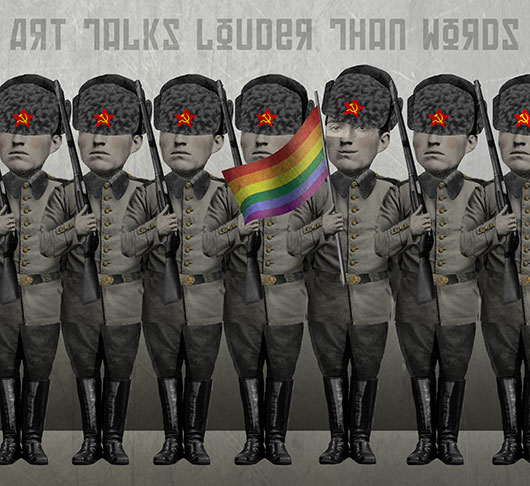 Russia Gay Rights Soldiers