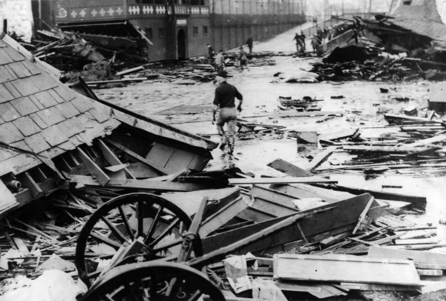Damage from Boston Molasses Flood